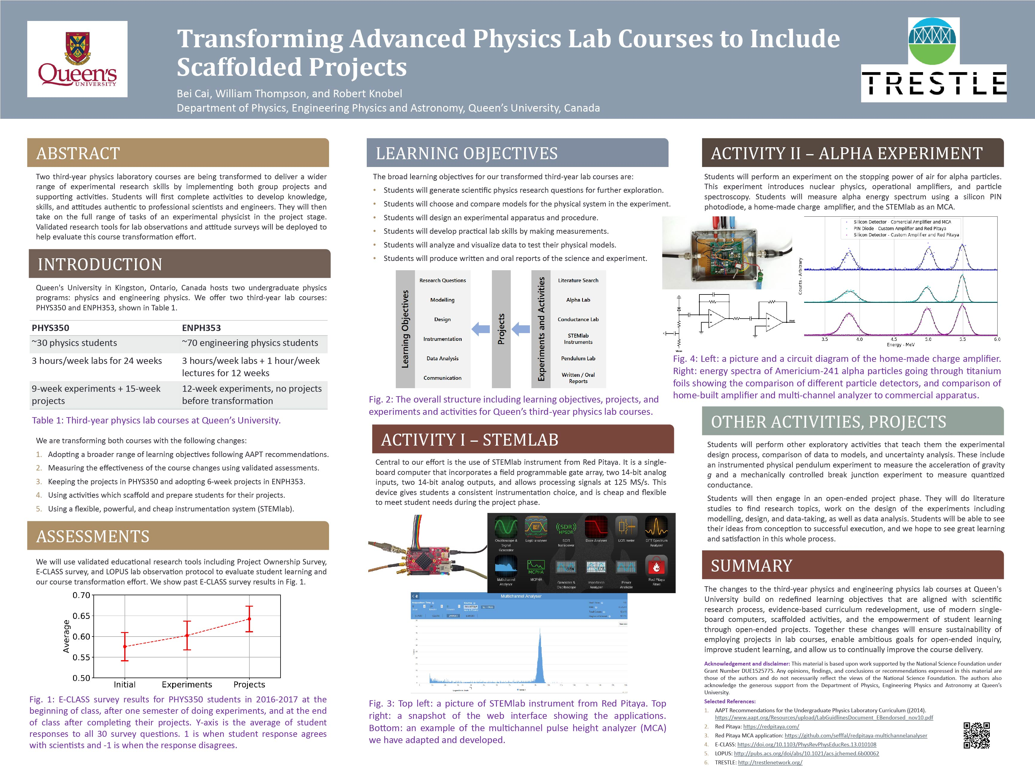 advancing physics research coursework Transforming physics education by using the tools of physics in their teaching, instructors can move students from mindless memorization to understanding and appreciation.